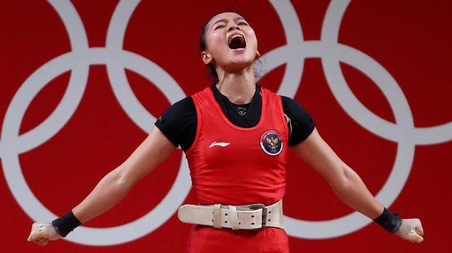 Keberhasilan Windy Cantika Aisah merebut medali perunggu di Olimpiade Tokyo 2020 membuat tim angkat besi Indonesia melanjutkan tradisi medali di Olimpiade.