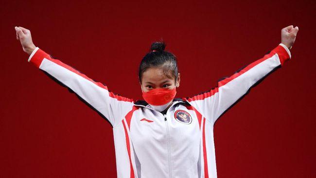 Joko Widodo memberikan ucapan selamat pada Windy Cantika Aisah yang sukses merebut medali perunggu di Olimpiade Tokyo 2020.