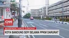 VIDEO: Kota Bandung Sepi Selama PPKM Darurat