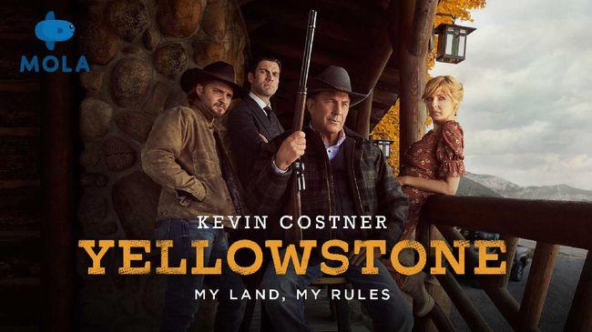Layanan streaming Mola menawarkan serial Yellowstone yang dibintangi Kevin Costner, mengisahkan sebuah drama kehidupan, tragedi yang terasa nyata.