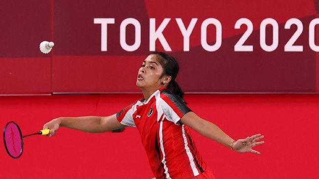 Gregoria Mariska Tunjung mengaku dilanda ketegangan saat menang atas Thet Htar Thuzar (Myanmar) di badminton Olimpiade Tokyo 2020.