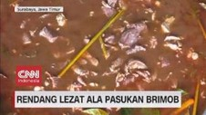 VIDEO: Rendang Lezat Ala Pasukan Brimob
