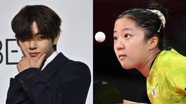 V BTS Dukung Atlet Olimpiade Tenis Meja Termuda Korsel