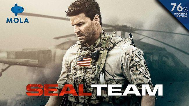 Platform layanan streaming Mola menawarkan petualangan personel SEAL Team dengan segala problem pribadi bagi para penggemar film aksi.