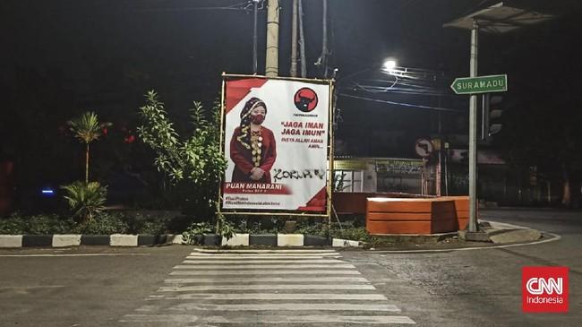 Pelaku Vandalisme Baliho Puan 'PKI' dan 'Koruptor' Ditangkap