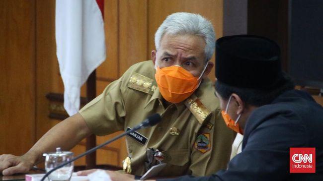 Ganjar mengklaim saat ini dirinya masih fokus menangani pandemi Covid-19 di Jateng, belum memikirkan untuk Pilpres 2024.