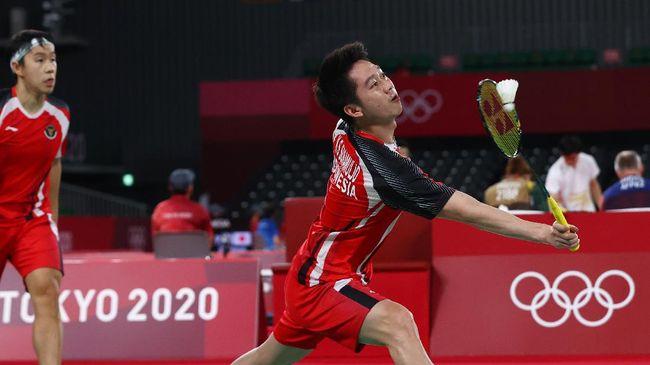 Kevin Sanjaya Sukamuljo/Marcus Fernaldi Gideon kalah dari pasangan Taiwan, Lee Yang/Wang Chi Lin lewat permainan tiga gim dengan 18-21, 21-15, 17-21.