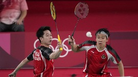 FOTO: Kevin/Marcus dan Ahsan/Hendra Jaga All Indonesian Final