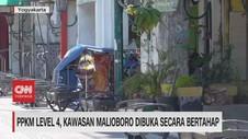VIDEO: PPKM Level 4, Kawasan Malioboro Dibuka Secara Bertahap