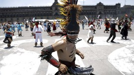 FOTO: Festival 696 Tahun Peradaban Aztec di Meksiko