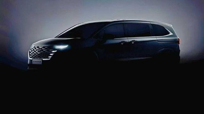 Hyundai merilis foto penggoda Custo, MPV yang diduga menjadi pengganti H-1.