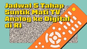 INFOGRAFIS: Jadwal 5 Tahap Suntik Mati TV Analog ke Digital