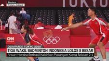 VIDEO: Tiga Wakil Badminton Indonesia Lolos 8 Besar