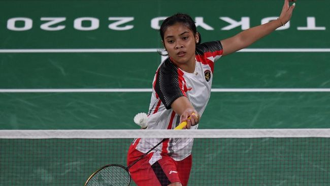 Gregoria Mariska Tunjung menyumbang poin kedua Indonesia atas Rusia, 2-0, usai mengalahkan Anastasiia Shapovalova 21-14, 21-13.