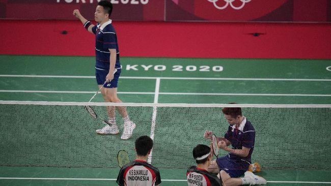 Ganda putra Malaysia Aaron Chia/Soh Wooi Yik terkejut bisa mengalahkan Kevin Sanjaya/Marcus Gideon pada perempat final badminton Olimpiade Tokyo 2020.