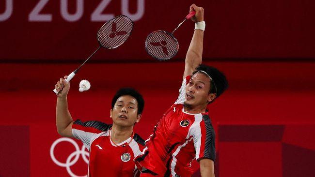 Berikut link live streaming pertandingan Mohammad Ahsan/Hendra Setiawan melawan wakil Taiwan di semifinal badminton Olimpiade Tokyo.