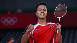 Unggulan Badminton Olimpiade Tumbang, Ginting Lewati Kutukan