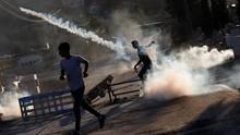 FOTO: Bentrok Pecah Usai Tentara Israel Tembak Pria Palestina