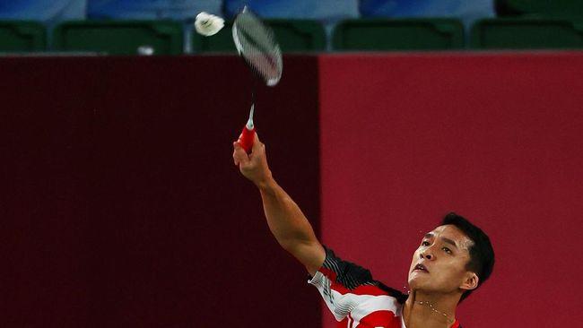 Jonatan Christie kalah dari Shi Yu Qi di babak 16 besar Olimpiade Tokyo 2020 dengan skor 11-21, 9-21.