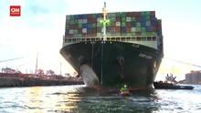 VIDEO: Setelah Sempat Nyangkut Kapal Ever Given Sampai Tujuan