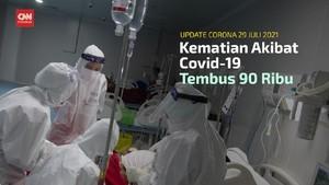 VIDEO: Kematian Akibat Covid-19 Tembus 90 Ribu