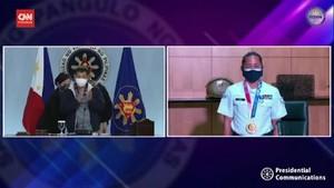 VIDEO: Peraih Emas Olimpiade Filipina Disambut Bak Pahlawan