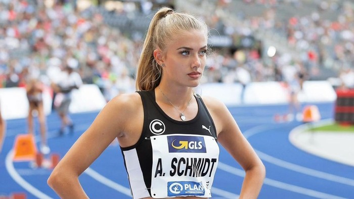Alica Schmidt merupakan atlet lari asal Jerman. Ia lahir di kota Worms, pada 8 November 1998, yang berarti saat ini usianya menginjak 22 tahun./ Foto: Instagram/alicasmd.