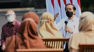 PPKM Diperpanjang, Jokowi Jamin Bansos Buat Masyarakat