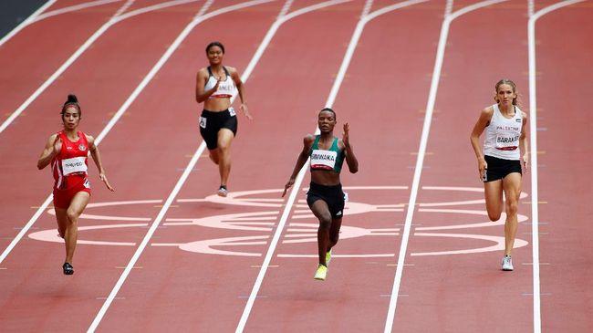 Alvin Tehupeiory, berhasil lolos ke babak pertama nomor 100 meter usai menempati peringkat ketiga babak prakualifikasi atletik Olimpiade Tokyo 2020.