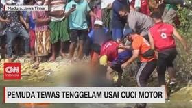 VIDEO: Pemuda Tewas Tenggelam Usai Cuci Motor