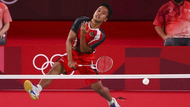 Anthony Sinisuka Ginting menjadi satu-satunya wakil Indonesia yang akan bertanding di cabang olahraga badminton Olimpiade Tokyo 2020, Minggu (1/8).