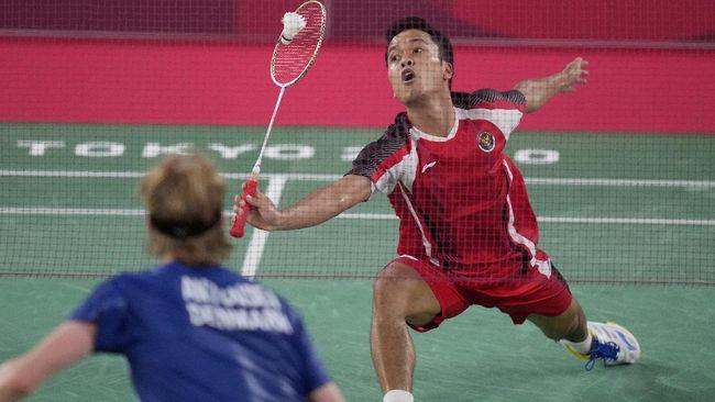 Anthony Ginting mengakhiri kutukan buruk tunggal putra Indonesia di badminton Olimpiade setelah lolos ke semifinal Olimpiade Tokyo 2020.