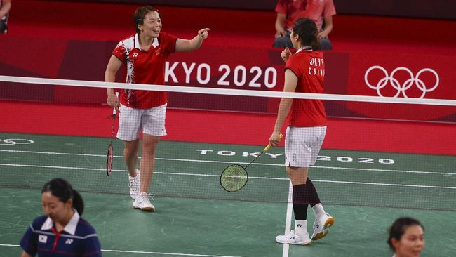 Ganda putri unggulan kedua asal China Chen Qingchen/Jia Yifan bakal menjadi lawan ganda Indonesia Greysia Polii/Apriyani Rahayu di final Olimpiade Tokyo 2020.