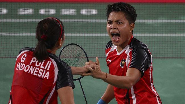 Greysia Polii/Apriyani Rahayu meminta doa dan dukungan seluruh masyarakat Indonesia untuk bisa merebut medali emas setelah lolos ke final Olimpiade Tokyo.