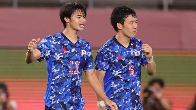Jepang berusaha mempertahankan rekor kemenangan saat menghadapi Spanyol di semifinal cabor sepak bola Olimpiade Tokyo 2020 di Stadion Saitama, Selasa (3/8).