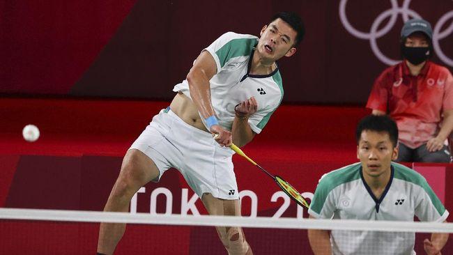 Ganda putra Taiwan Lee Yang/Wang Chi Lin berhasil merebut medali emas ganda putra cabor badminton Olimpiade Tokyo 2020.