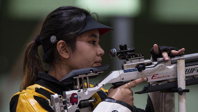 Atlet menembak putri Indonesia Vidya Rafika Toyyiba gagal melangkah ke babak final menembak nomor 50 meter 3 posisi Olimpiade Tokyo 2020.
