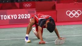 Ginting Cedera dan Tersingkir di Babak 32 Besar Denmark Open