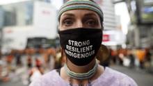 Demo Tuntut Penyelidikan Sekolah Asrama Suku Asli di Kanada