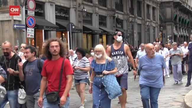 VIDEO: Demo Anti Vaksin Tolak Kebijakan Green Card di Italia