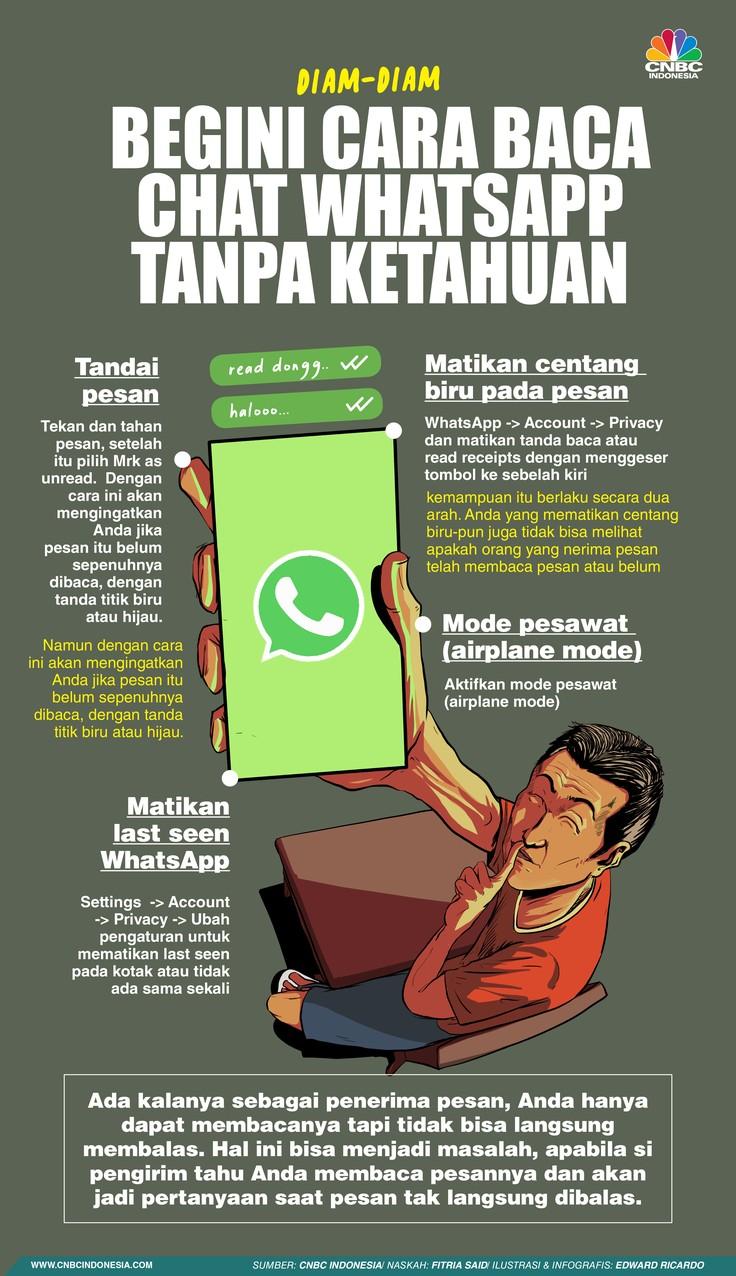Diam-Diam, Begini Cara Baca Chat Whatsapp Tanpa Ketahuan