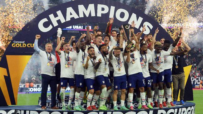 Timnas Amerika Serikat menjadi juara Gold Cup 2021 usai mengalahkan Meksiko 1-0 lewat gol pada babak tambahan di Stadion Allegiant, Las Vegas.