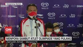 VIDEO: Menpora Sambut Atlet Olimpiade yang Pulang
