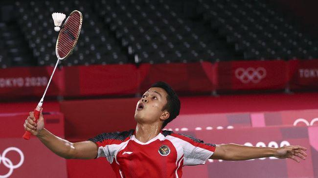 Anthony Sinisuka Ginting berhasil meraih medali perunggu Olimpiade Tokyo 2020 usai mengalahkan pebulutangkis Guatemala, Kevin Cordon.