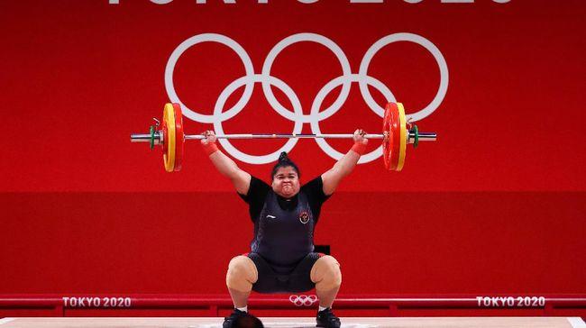 Nurul Akmal mentertawakan dugaan body shaming kepadanya saat penyambutan kepulangan beberapa atlet dan ofisial dari Olimpiade Tokyo 2020, Rabu (4/8) malam.