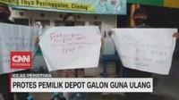 VIDEO: Protes Pemilik Depot Galon Isi Ulang