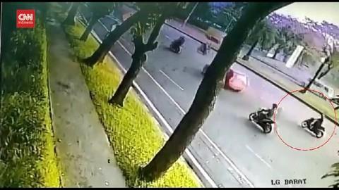 VIDEO: Moge Tabrak Motor Matic, 1 Perempuan Tewas