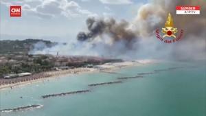 VIDEO: Setelah Turki, Giliran Italia Dilanda Kebakaran