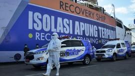 FOTO: Isolasi Apung Pasien Covid-19 di Kapal Umsini