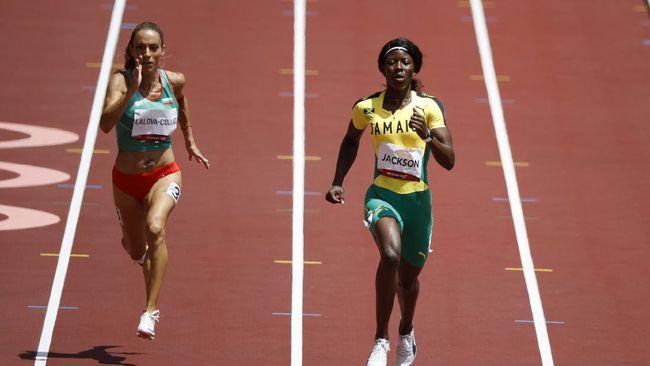 Sprinter putri Jamaika Shericka Jackson membuat blunder fatal dan kehilangan kesempatan terbaik meraih medali Olimpiade Tokyo 2020 nomor lari 200m.